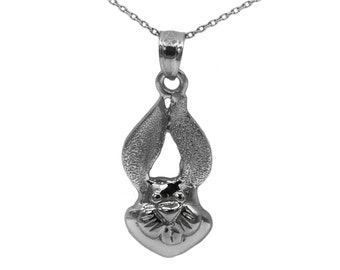 10k Black Gold Rabbit Necklace