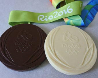 Personalised Chocolate Olympic Medals Birthday gifts organic chocolate white chocolate, Mothers Day gift, worlds best boss.