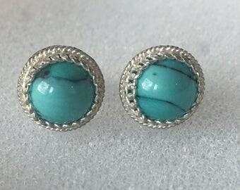 Stud silver toned earrings