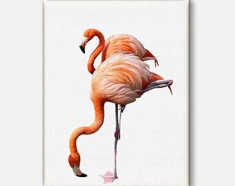 Flamingo Print, Tropical Print, Tropical Decor,Wall Art, Flamingo Bird, Printable Art, Flamingo modern, Bird Art, Bird Photography gift