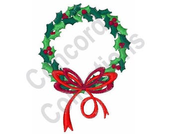 Christmas Wreath Machine Embroidery Design