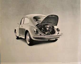 1970 VW Beetle ad.  1970 Volkwagen Bug ad.  Volkswagen Beetle ad.  Black and white.  Life Magazine.  October 24, 1969.
