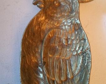 Brass parrot tray