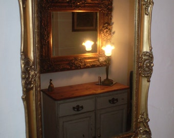 Vintage 1970s French Rococo Style Mirror in Lovely condition.Antique Gold Colour,Ornate
