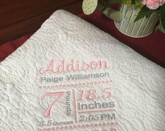 Heirloom Baby Quilt/Childs Quilt/Blanket/Monogrammed Quilt