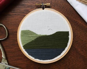 Minimalistic Mountain Embroidery