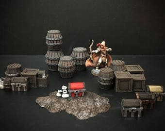 28mm Scale Tabletop scatter terrain for wargaming Dungeons and Dragons or Warhammer