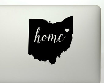 Ohio home state die cut vinyl decal sticker for cars, laptop, yeti decals, etc..