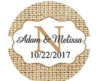 Set of Personalized Custom Wedding Names stickers
