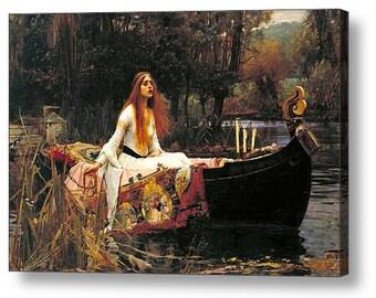"John William Waterhouse ""The Lady of Shalott "" Canvas Box Art A4, A3, A2, A1 ++"