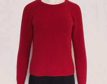 Cashmere sweater with raglan sleeve cashmere sweater