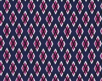 Passion Argyle Me  - HALF YARD - Michael Miller - Cotton Fabric - Quilting Fabric  Midnite Gems