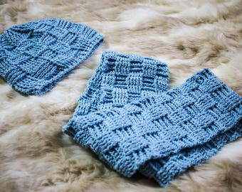 Aleksandar Crocheted Hat and Infinity Scarf Set