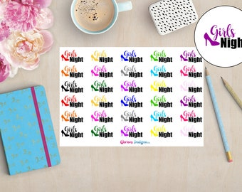 Girls Night   Planner Stickers   Erin Condren, Happy Planner, Personal Planner