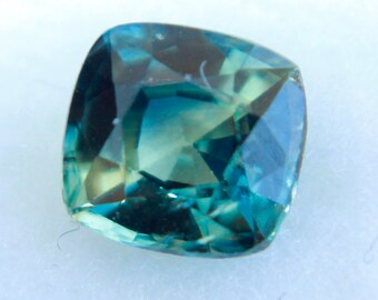 Natural Blue Green Sapphire Cushion Cut  5 mm - Loose Sapphire (On Hold )