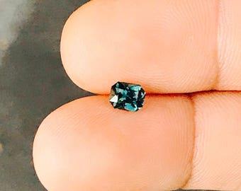 Australian Natural Blue Green Sapphire Emerald Cut - Loose Unset Gemstone
