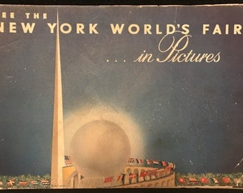 Vintage Antique book: See the World's Fair in Pictures by Whalen, Grover A. World's Fair President, 1939
