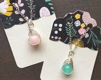 Gem drop necklace for girls