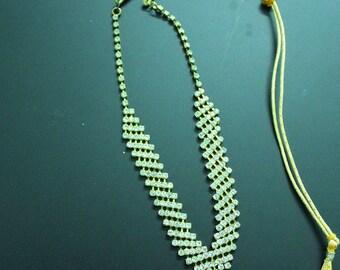 Bridal Jewelry Necklace Goldtone Indian Fashion Wedding Choker Necklace Antique Jewellery Adjustable Necklace