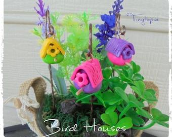 Mini Bird House Fairy Garden Terrarium Accessory