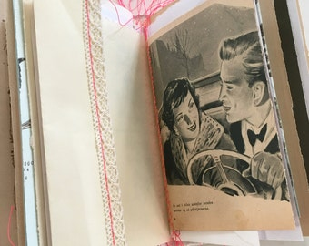 """ROMANTIC inspiration book - """"mitkrearum mood book"""" - unique hand bound book made just for you"""