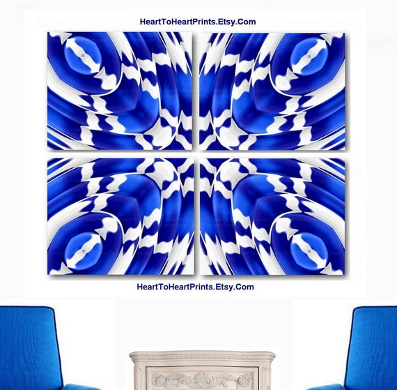 items similar to abstract wall art navy royal blue wall decor abstract geometric art prints. Black Bedroom Furniture Sets. Home Design Ideas