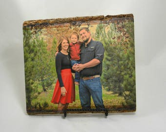 Rustic Home Decor, Grandparent Gifts, Gifts for Mom, Picture Frame, Gifts for Dad, Custom Portrait, Wall Art, Grandma Gift, Husband Gift,