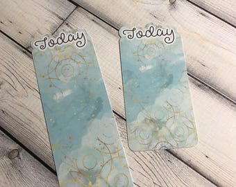 Today Bookmark  Teal Clouds