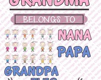 This Grandma Grandpa Nana Papa Belongs to