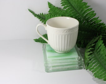 Green Fused Glass Coasters (Set of 4)