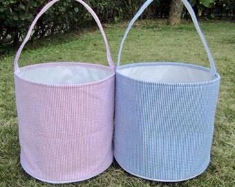 Seesucker Easter Bucket