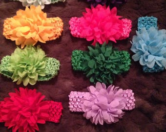 9 flower headbands