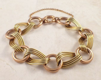 Retro 14K Yellow and Rose Gold Bracelet