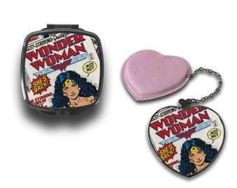 Retro Comic Book Wonder Woman Compact Makeup Handbag Mirror CM087