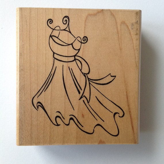 Ctmh rubber stamp wedding dress rubberstamp scrapbooking for Wedding dress rubber stamp