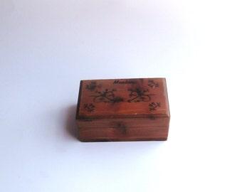 Vintage Montana Cedar Wooden Box