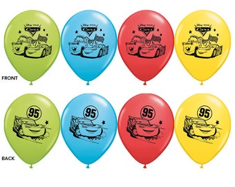 7ct Disney CARS Latex BALLOONS Birthday Party Supplies Decorations Centerpiece Photo Prop