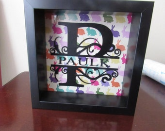 Monogram Name Frame - 12 Changeable Backgrounds - 5x5