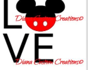 Mickey Love  Iron On  shirt