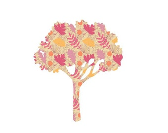 Pink Leaves Craft Vinyl. UV Laminated. Various Sizes Available.