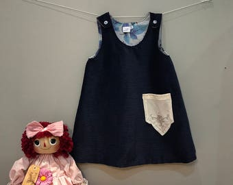 Reversible Pinafore featuring vintage fabrics