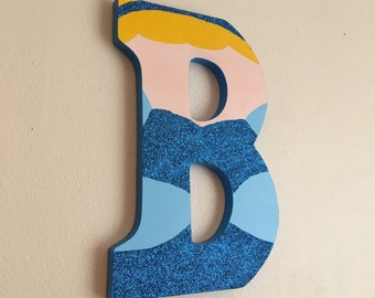 "Cinderella 9"" Hand-Painted Wall Letter"