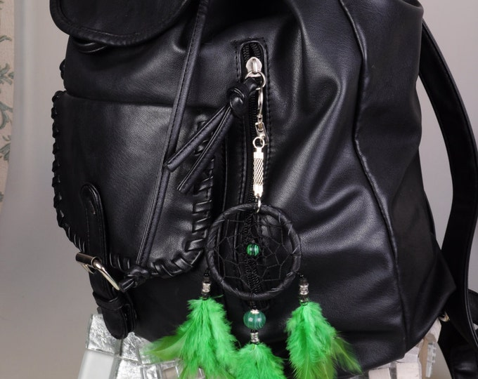 Keychain Dreamcatcher malachite handmade Dreamcatcher green Dreamcatchers Christmas present Keychain malachite green Keychain Dreamcatcher