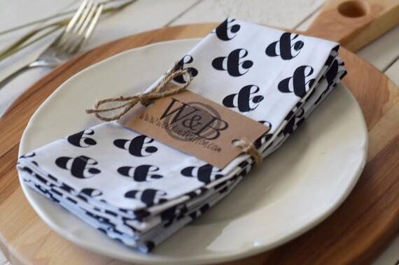Fabric Napkin   table linen, cloth napkin set, table decor, ampersand