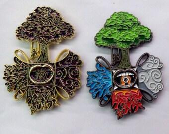 SET** Twisted Elements Lapel Pins