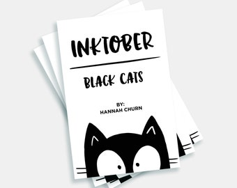 Inktober Black Cats