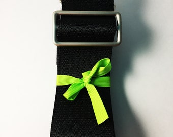 Black Seatbelt Messenger Strap