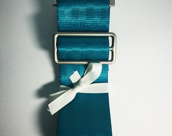 Teal Seatbelt Messenger Strap