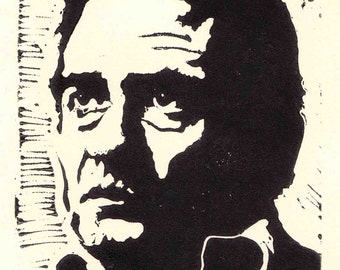 Johnny Cash Lino 10cm x 15cm