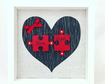 Personalised Gift, Heart Frame, Wedding Gift, Anniversary Gift, Couples Gift, Gift for a Couple, Gift for Wife, Valentines Gift, Love Heart